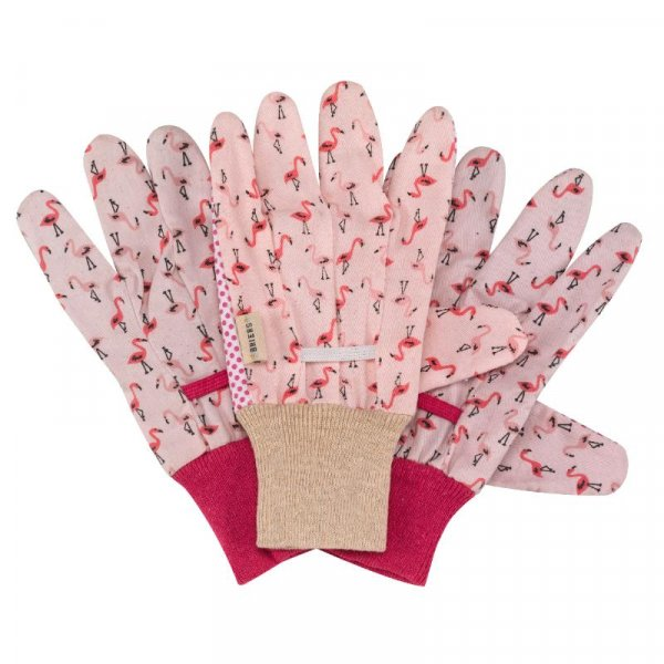 Flamboya Flamingo Cotton Gloves with Grips (3 Pack)